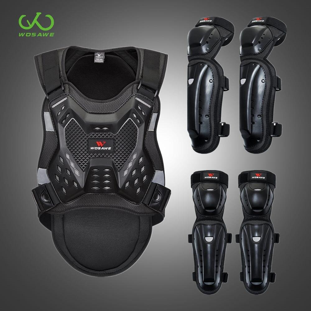 WOSAWE-سترة واقية بدون أكمام للموتوكروس ، بدلة واقية لركوب الدراجات النارية ، معدات رياضية ، ظهر تزلج على الصدر ، للبالغين