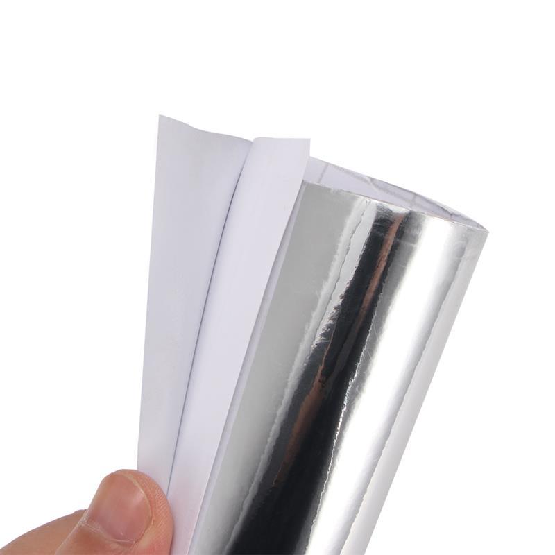 50CM 60CM PVC PET Car Wrap Sticker Stretchable Film Chrome Sticker Flexible Chrome Silver Chrome Car Styling