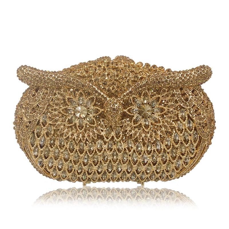 محفظة نسائية ذهبية وأحجار الراين ، حقيبة يد نسائية ، حقيبة سهرة ، أحجار كريمة كبيرة ، حقيبة كتف
