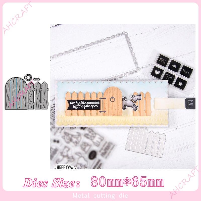 Troqueles de corte de Metal de puerta y valla para álbum para recortes de fotos grabado decorativo tarjetas de papel artesanías Die2020