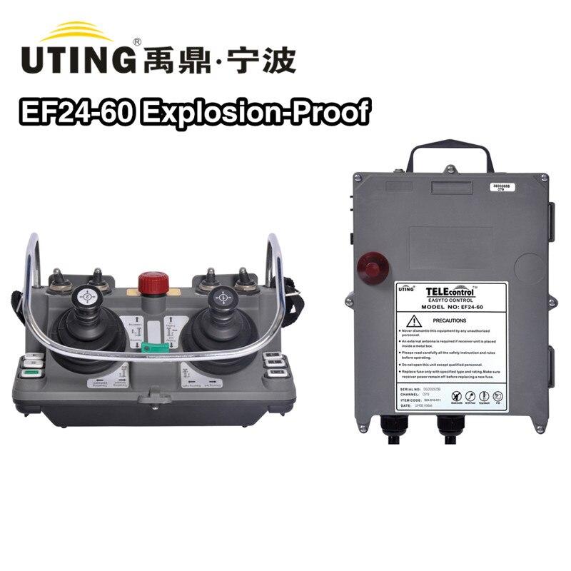 Manche à Prova de Explosão Remoto sem Fio Ef24-60 com Sirene Rádio Remoto Fabricante Telecontrol Duplo 5-steps Exct4 Controle