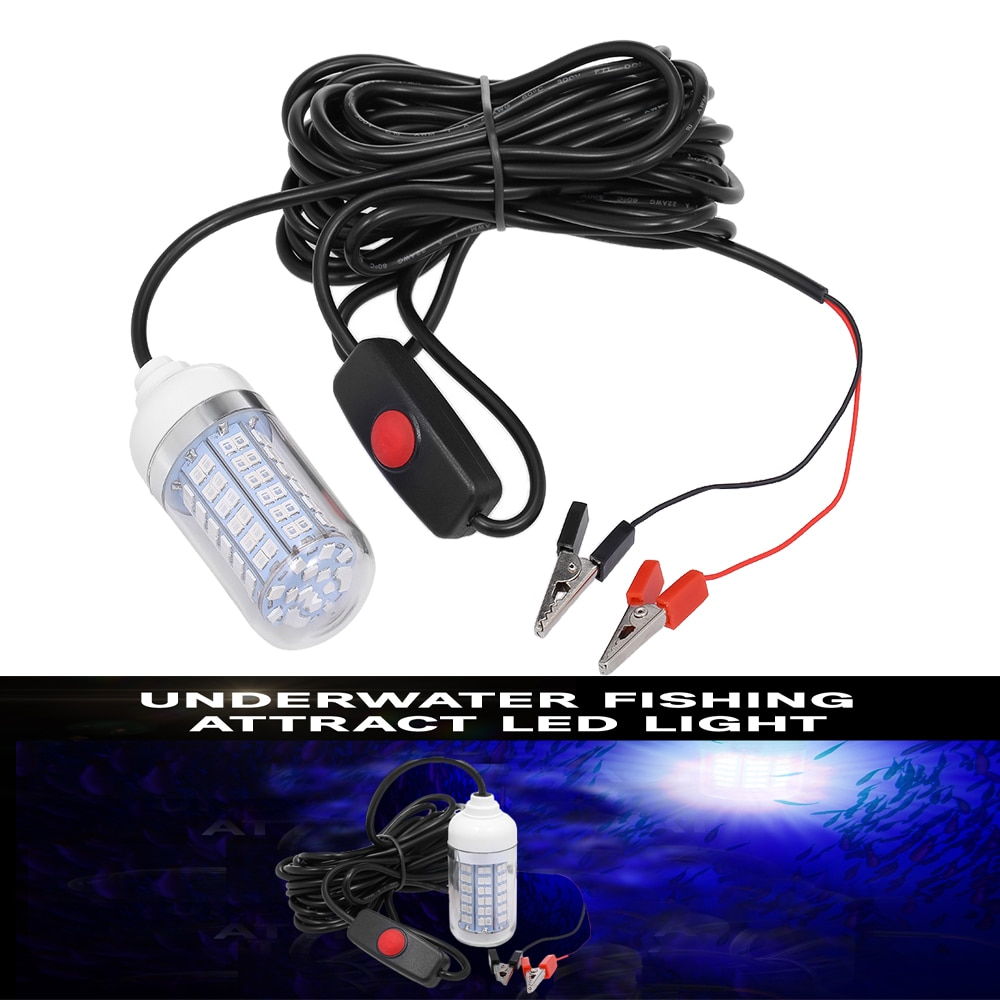 Luz de Pesca subacuática Lixada 108 Uds. De lámpara LED 2835 12V 15W sistema de localización de peces atrae lámpara señuelo para carpa Pesca