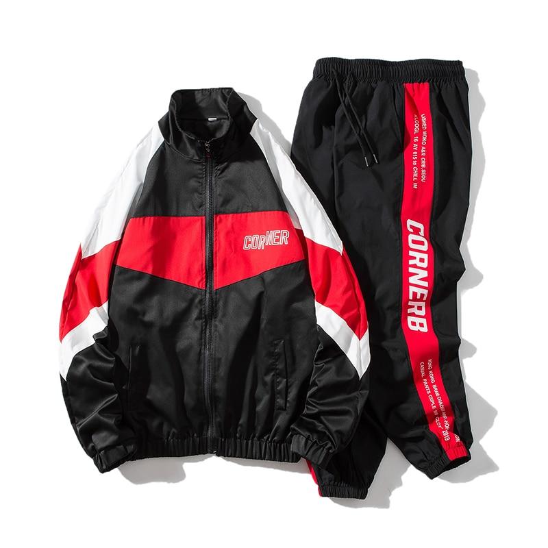 2021 بدلة رياضية هيب هوب للرجال ملابس رجالي 2 قطعة مجموعات رجل الشارع الشهير سترات و سراويلي حريمي ABZ551