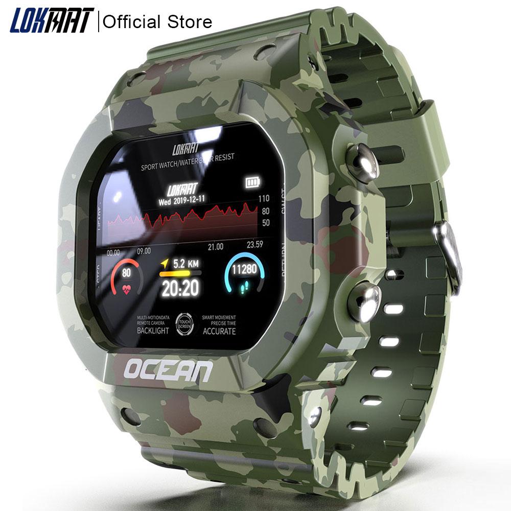 LOKMAT المحيط ساعة ذكية الرجال جهاز تعقب للياقة البدنية ضغط الدم رسالة دفع مراقب معدل ضربات القلب ساعة Smartwatch النساء ل أندرويد