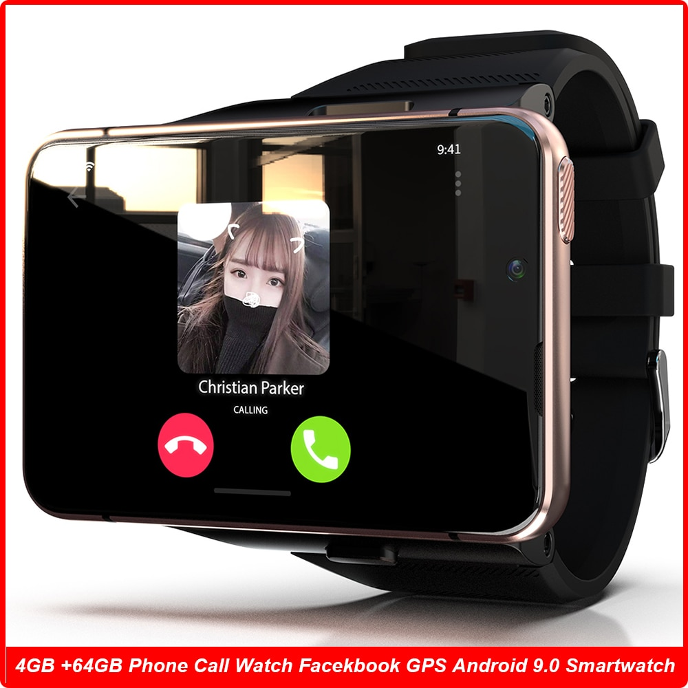 Get 4G Global Smart Watch APP Download 2.88 Inch 13MP Dual Camera 640*480 HD Screen GPS Android 9 4GB + 64GB Memory Phone Smartwatch