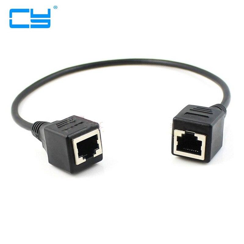 1FT 30 cm 8P8C FTP STP UTP Cat 5e Femea para Femea Cabo de Extensao de Rede Ethernet Lan Patch schnur