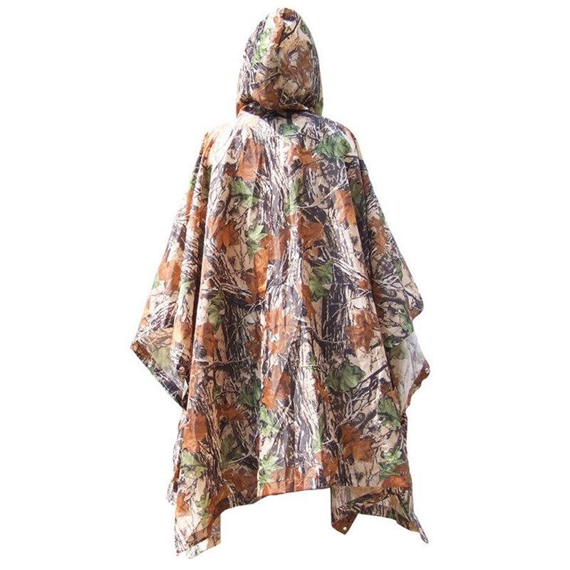 Portátil sol refugio tienda multifunción tienda de acampar con camuflaje estera impermeable 3in1 impermeable Poncho de lluvia Packable impermeable ligero