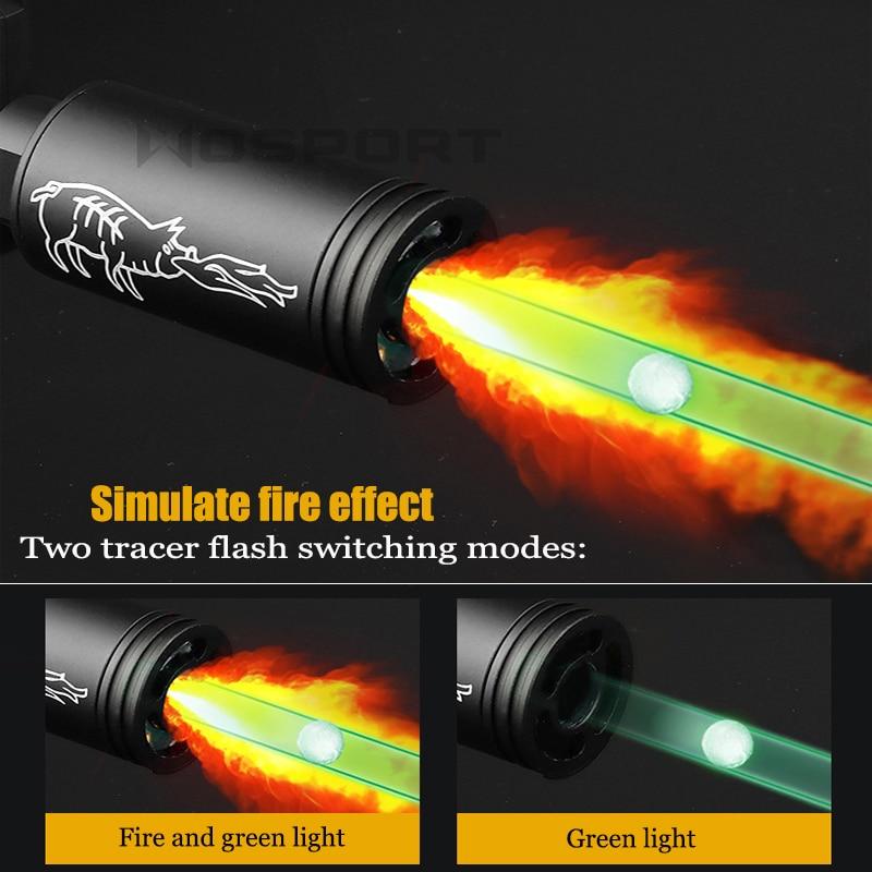 Airsoft tracer vžigalnik zelene svetlobe imitacija sledenja požara - Streljanje - Fotografija 2