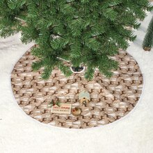 Christmas Tree Skirt 60/80/100 CM Round Elk Carpet Christmas Decorations for Home Floor Mat New Year 2019 Xmas Tree Skirts