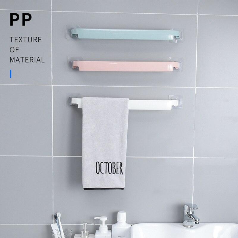 38*4 см Полезная пластиковая настенная Полка для полотенец для ванной комнаты, самоклеящаяся вешалка на клейкой основе, держатель для рулона ...