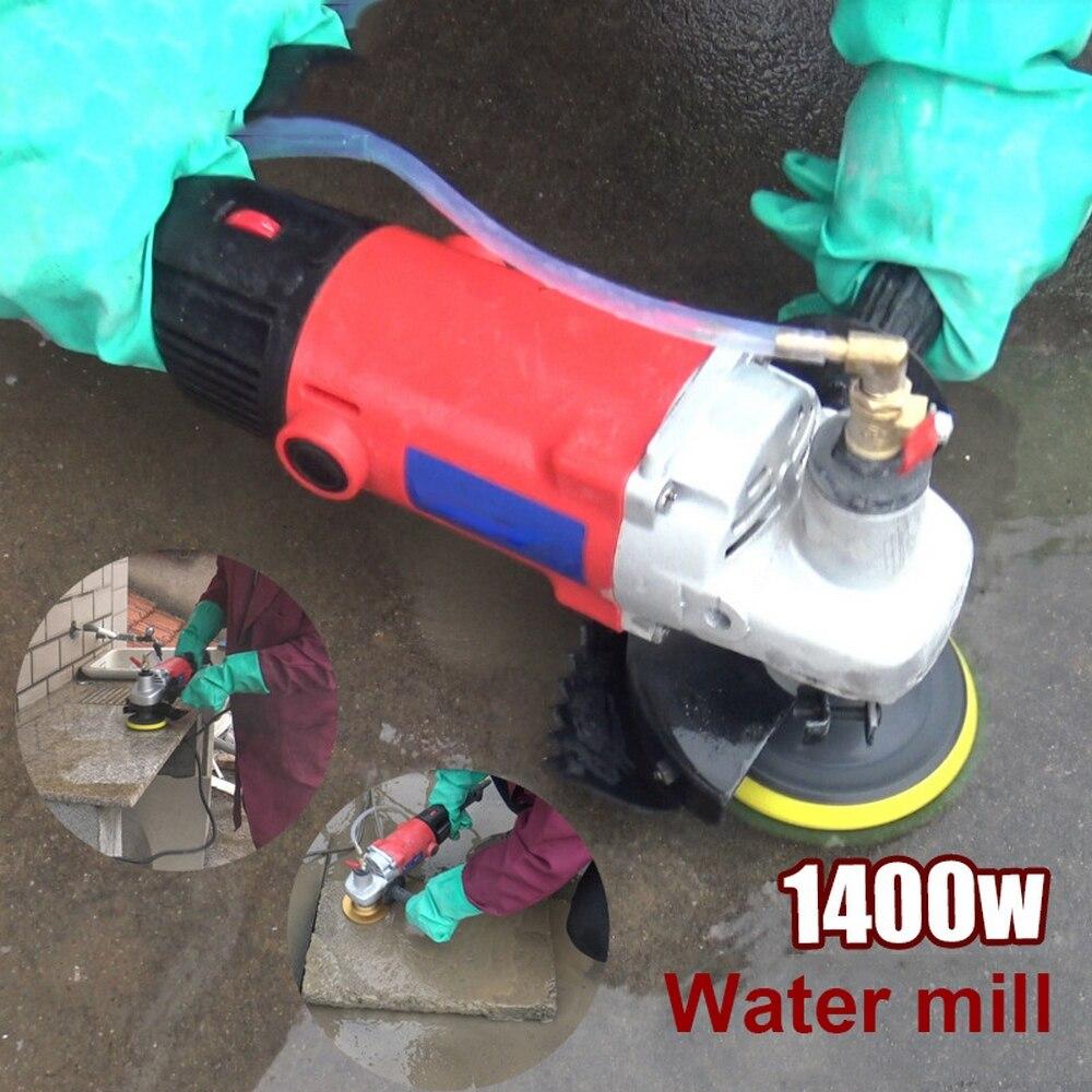 آلة تلميع الحجر والرخام والجرانيت ، ملمع المياه ، جلاخة الزاوية ، الأدوات الكهربائية ، 1400 واط