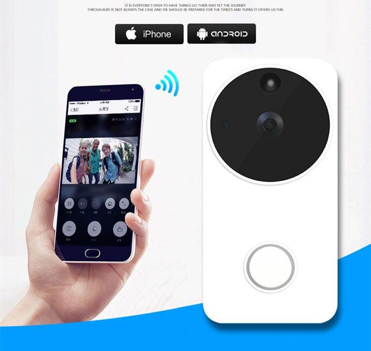 Video timbre wifi inteligente Video teléfono timbre WIFI timbre cámara para apartamentos IR alarma inalámbrica cámara de seguridad