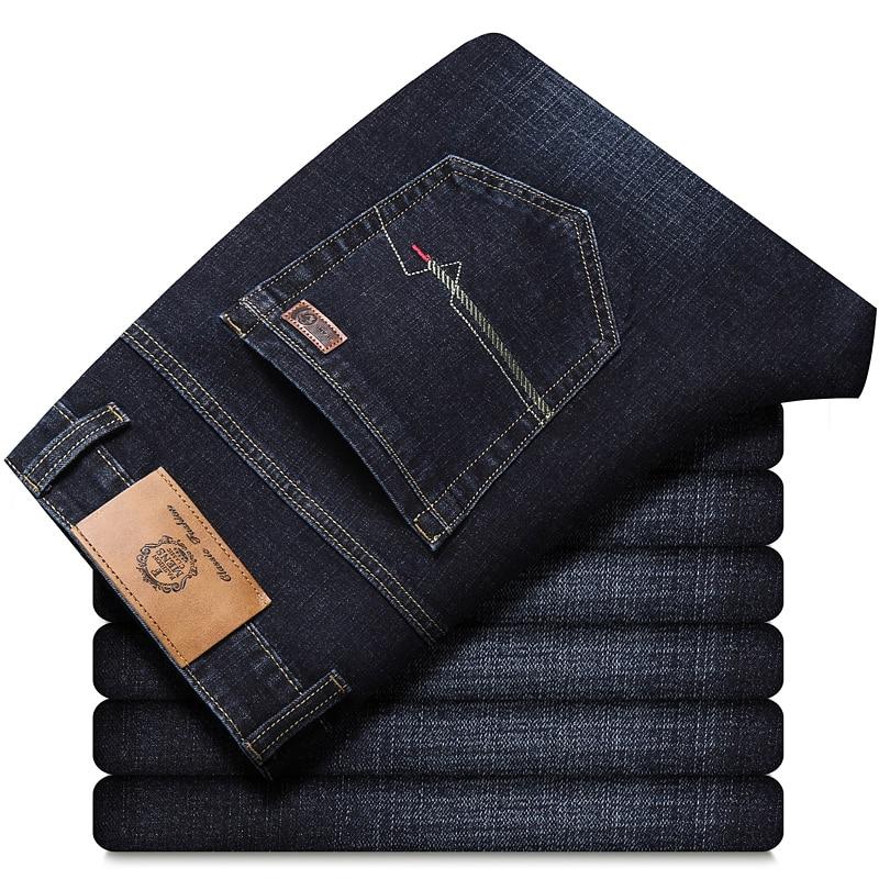 Pantalones vaqueros elásticos para hombre, Vaqueros ajustados de diseño a la moda,...