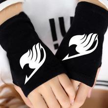 1 paire Cool Anime fée queue guilde doigt coton tricot gants de poignet mitaine Cosplay chaud Cospaly gants sans doigts jouets en peluche