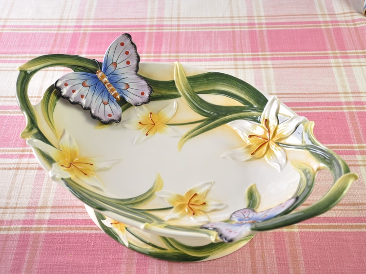 Europeu cerâmica jantar platedried frutas pastelaria bolo bandeja prato prato prato de comida do agregado familiar prato irregular salada prato louça