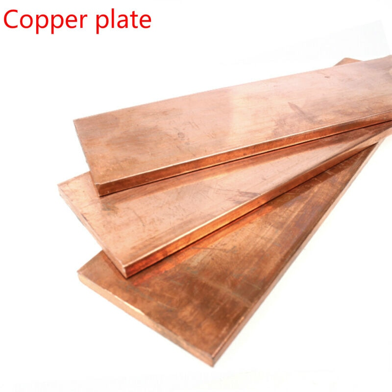 1pcs 99% high-purity copper tapecopper metal plate ,kit for laminated circuit board pure copper strip thickness 1.5mm, 2mm недорого