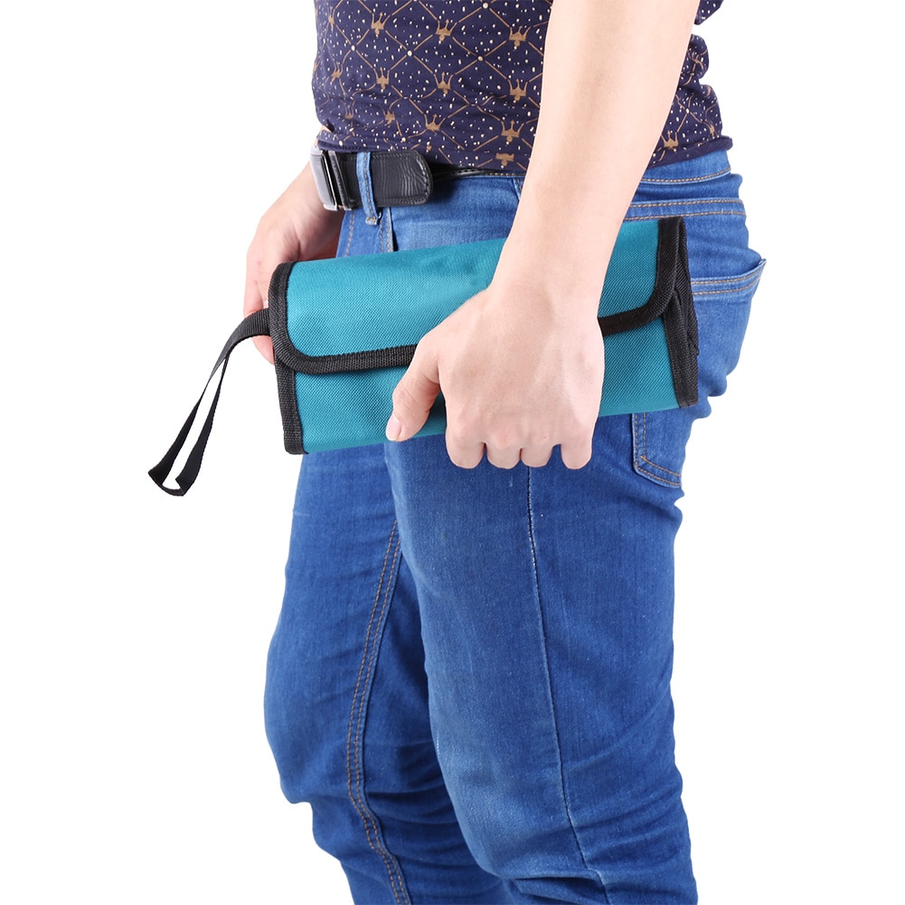 Foldable Professional Electricians Tool Storage Holder Roll Bag Convenient Organizer Waterproof Oxford Pouch Tool Bag