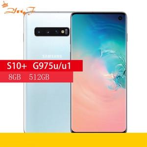 Samsung Galaxy S10 + g975U/U1 S10 плюс 8 Гб оперативной памяти 512 ГБ ROM мобильный телефон Snapdragon 855 Octa Core 6,4
