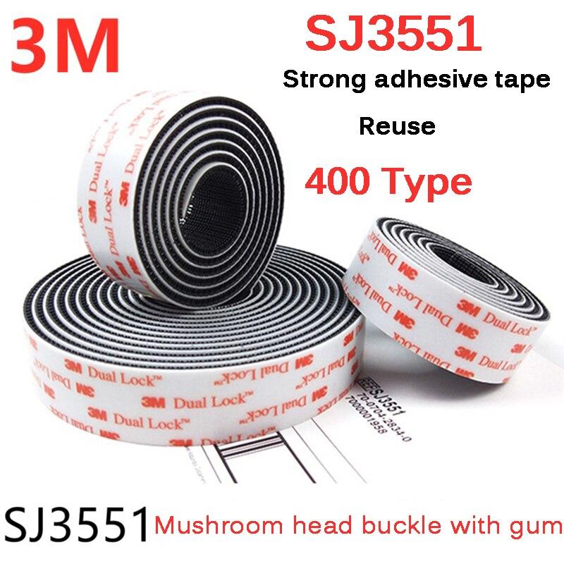 Adhesivo de seta negra SJ3551, 3M, 5 metros, doble bloqueo, con cinta...
