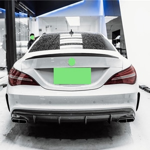 Use For Benz CLA Class W117 Spoiler 2013--2019 Year Real Carbon Fiber Rear Wing AMG Style Sport Accessories Body Kit