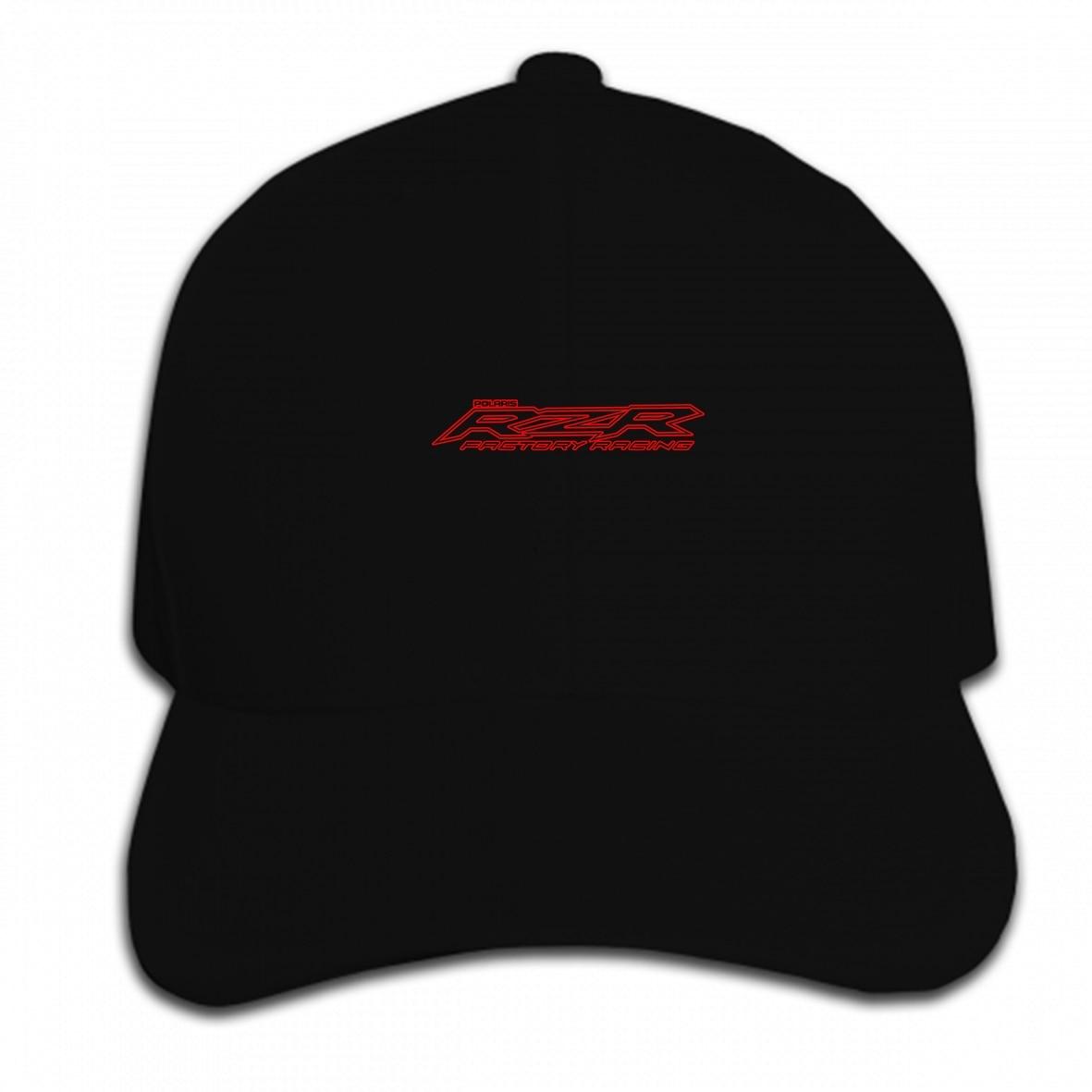 Imprimir personalizado gorra de béisbol Polaris RZR RacingMens negro sombrero pico Cap