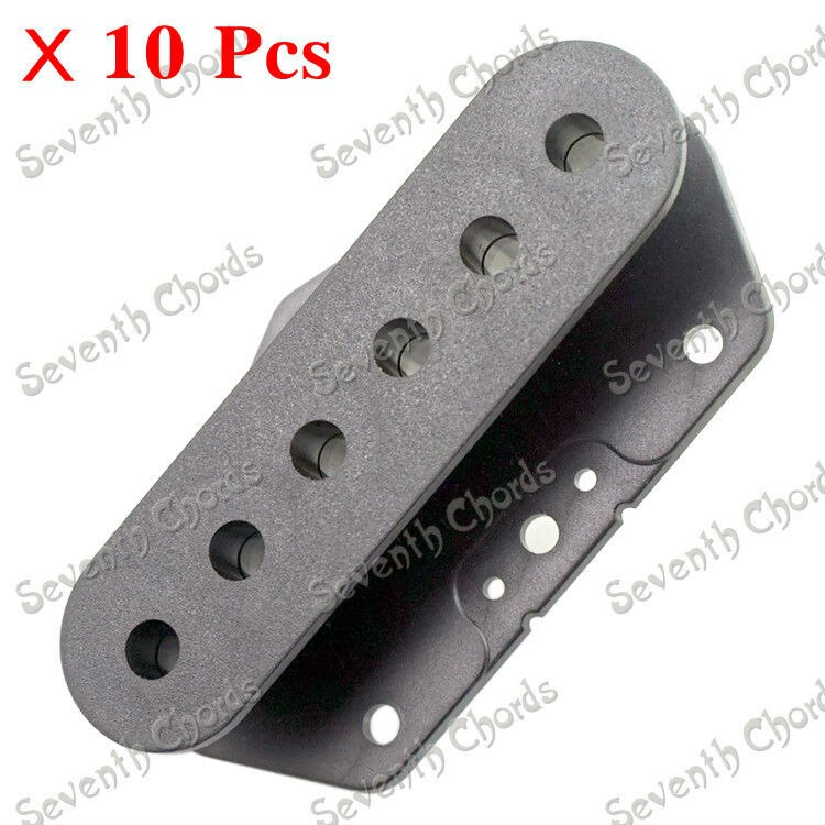 10 Uds. Sola bobina para tapas de plástico negro de una camioneta/tapa/carcasa/tapa para guitarra eléctrica/pastilla de guitarra bobinas de babosa