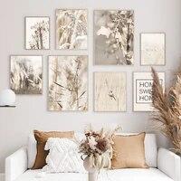 Reed ble pissenlit fleur douce maison mur Art toile peinture nordique affiches et impressions photos murales pour salon decor