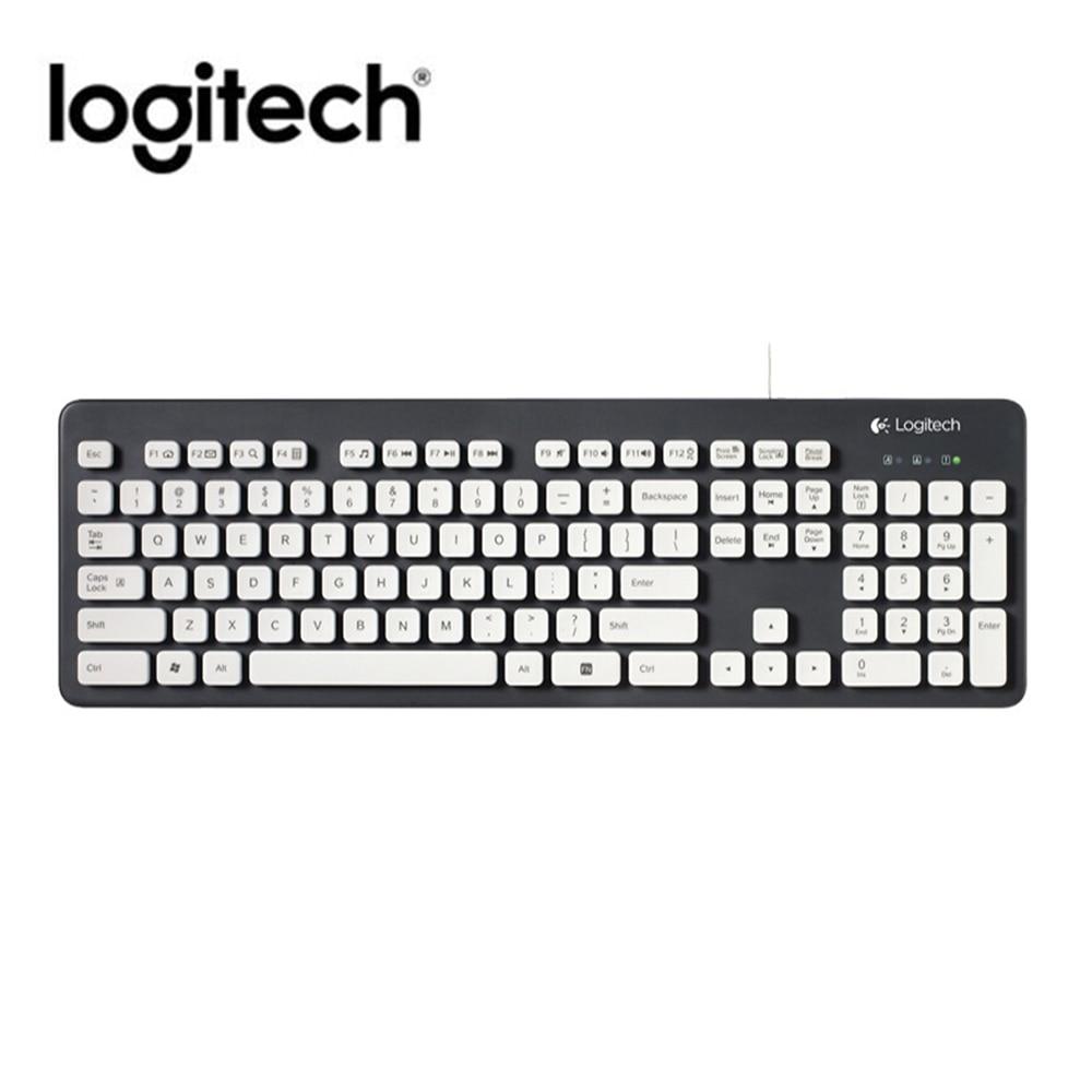 Teclado con cable lavable Logitech K310 para Windows XP Vista 7 8 108 teclas teclado de USB de Gaming para escritorio ordenador portátil PC Newst