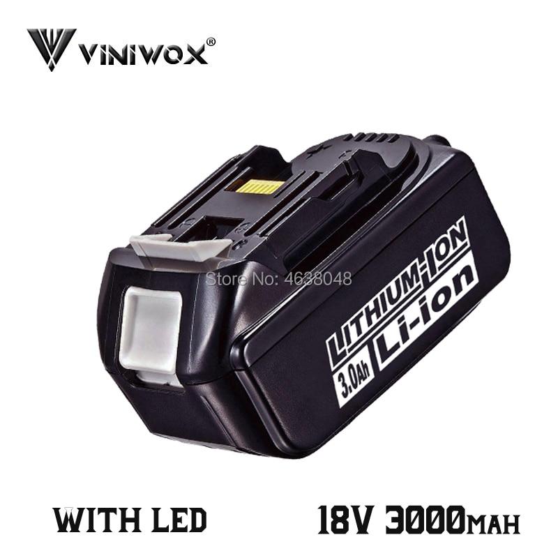 Substituição da bateria do li-íon de 3000 mah bl1830 para makita 18 v bl1840 bl1830b bl1850b bl1815 lxt400 baterias recarregáveis 36 v