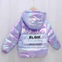 new colorful childrens down jacket winter hooded outerwear boys and girls jackets baby autumn and winter coats