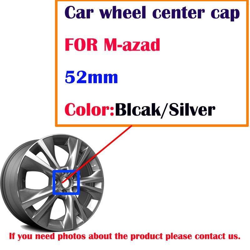 Capuchon central de roue de voiture   20 pièces 52mm, noir argent chrome de voiture, couvercles de moyeu, emblème pour logo de voiture MZD capuchon central de roue, jante de voiture, style de voiture