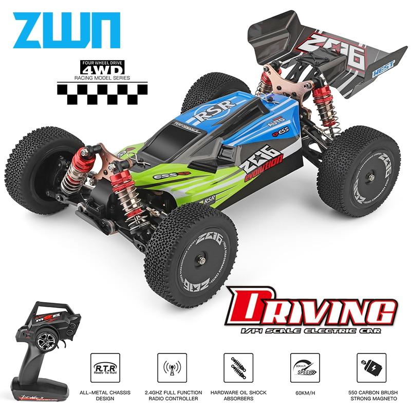 WLtoys 144001 959A 959B 2.4G Racing RC Car 70KM/H 4WD Electric High Speed Car Off-Road Drift Remote