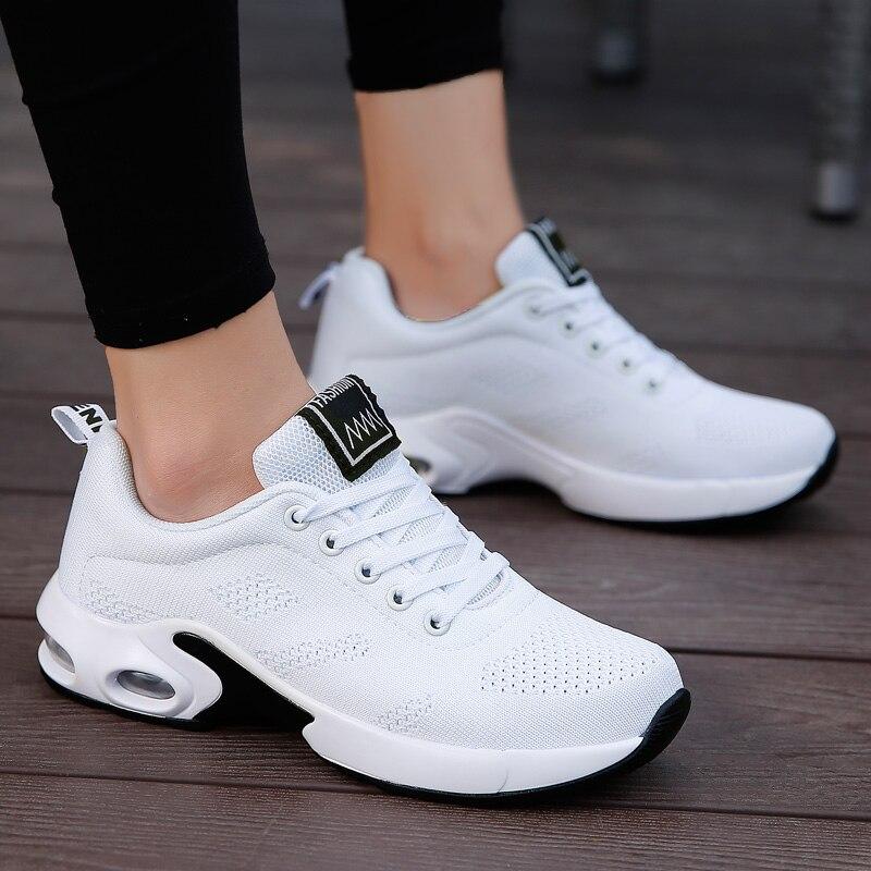 Повседневные женские кроссовки JIEMIAO, уличная спортивная обувь, дышащая сетчатая удобная обувь для бега, легкая обувь для бега на шнуровке