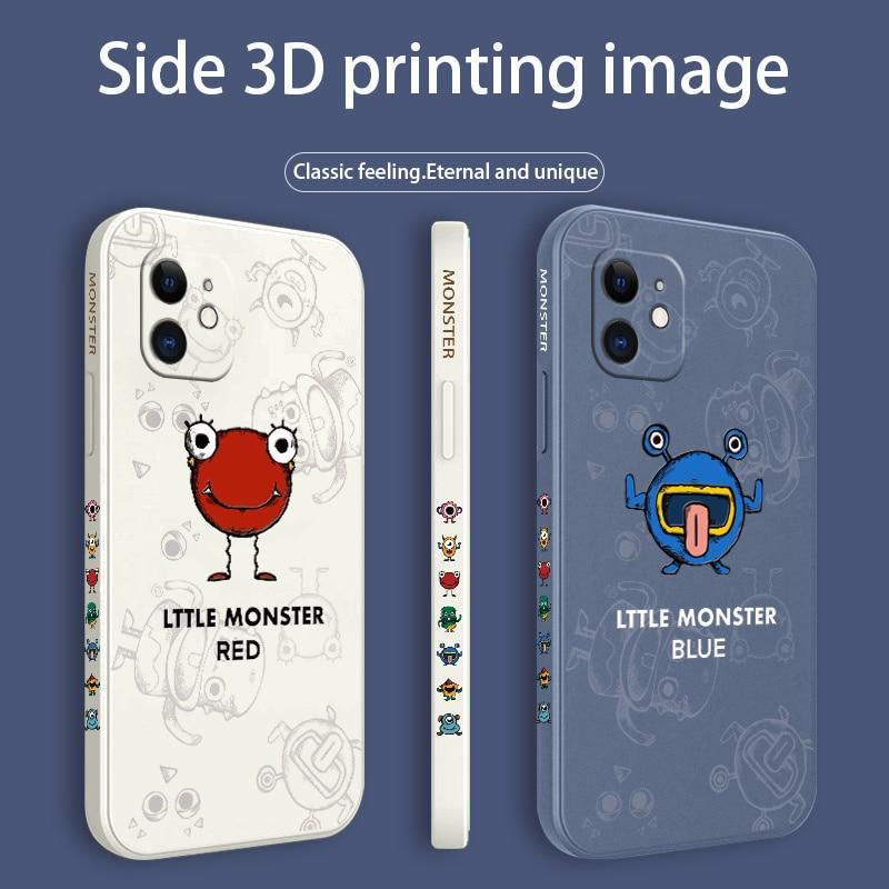 Various Cute Monster Pattern Case For iPhone 12 Pro Max 11 X XS  XR XSMAX SE2020 8 8Plus 7 7Plus 6 6