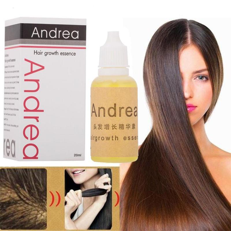 Andrea óleo de crescimento do cabelo essência 100% natural planta extrato líquido espessador para o crescimento do cabelo soro perda de cabelo produto cuidados com o cabelo