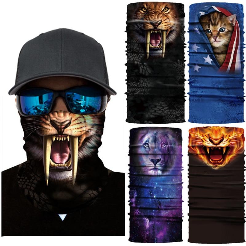Бесшовные шарфы, повязка на голову, милая повязка на шею для домашних животных, маска для животных, маска для велоспорта, лыжная Волшебная ба...