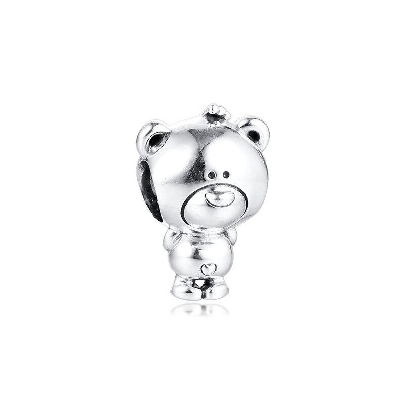 Cuentas de oso para el Día de San Valentín, cuentas de plata esterlina 925 para hacer joyas, pulseras de dijes, 2020 joyas, cuenta Vintage DIY