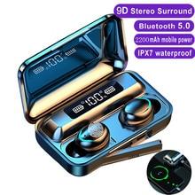 TWS F9 Earphone bluetooth 5.0 wireless headphones 9D Stereo Sports IPX7 Waterproof Earbuds Headset w