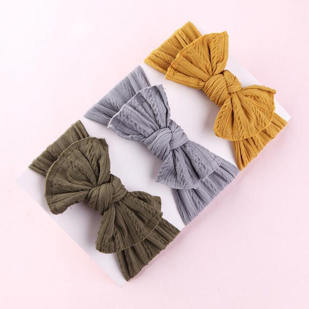 Bandeau tricoté à oreilles pour femmes   Accessoires pour cheveux, bandeau Crochet, large et extensible, chauffe-tête hiver