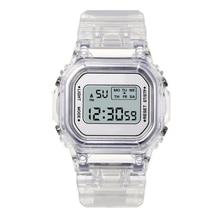 Fashion Men Women Watches Candy Casual Transparent Digital Sport Watch Lover's Gift Clock Children K