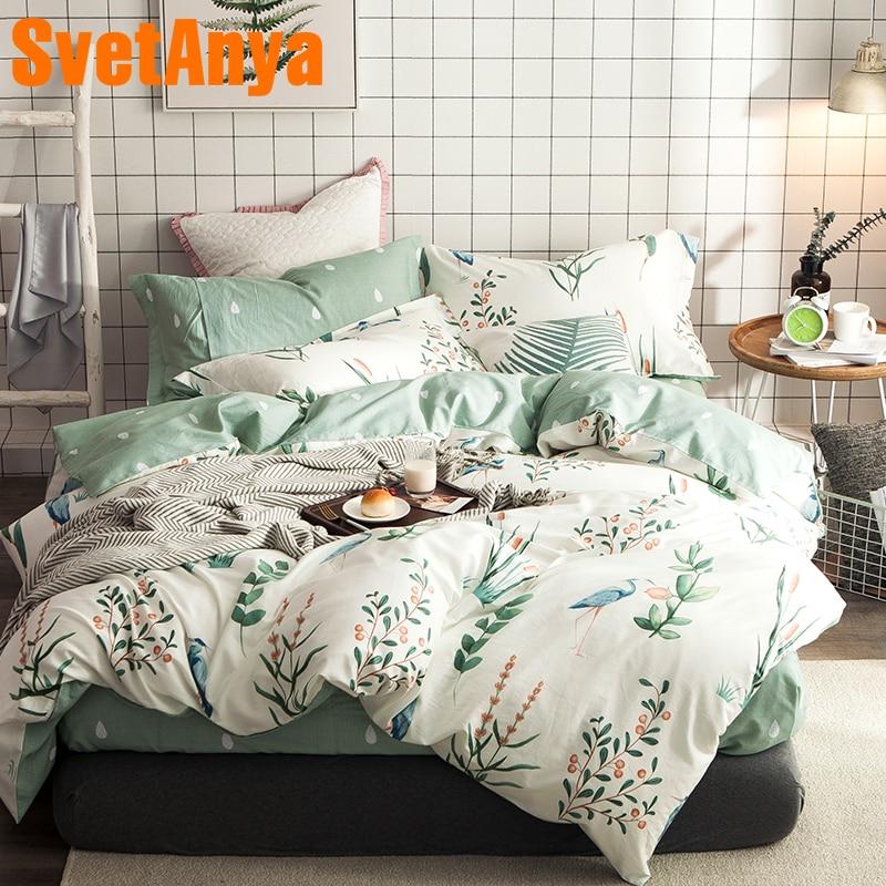 Svetanya Cotton Bedding Sets 4in1 (flat bedsheet pillowcase and Duvet cover)