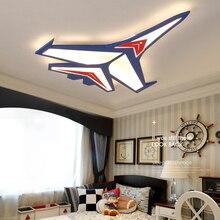 Cartoon plane Led Ceiling Lights Modern Children Ceiling Lamp for Kid's Room Bedroom Home Indoor Lighting Decoration Fixture