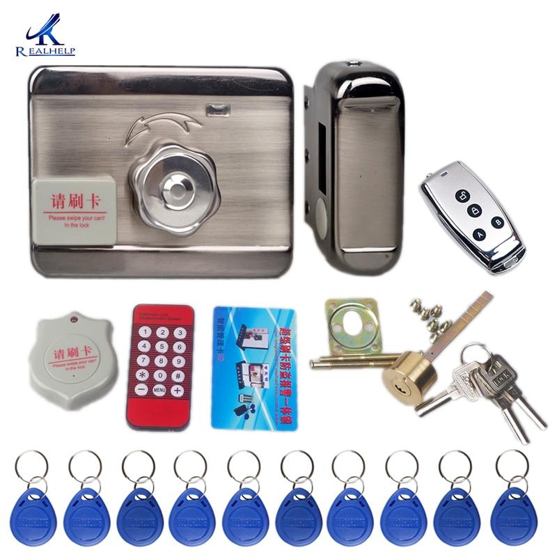 Система контроля допуска к двери без ключа Электронный Замок для двери блокировка для карт дистанционное управление Блокировка ключ для кл...