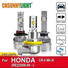 CNSUNNYLIGHT LED ampoules de phares de voiture pour HONDA CR-V Mk III RE de 2006 automobile ampoule de brouillard phare voiture lumière accessoires