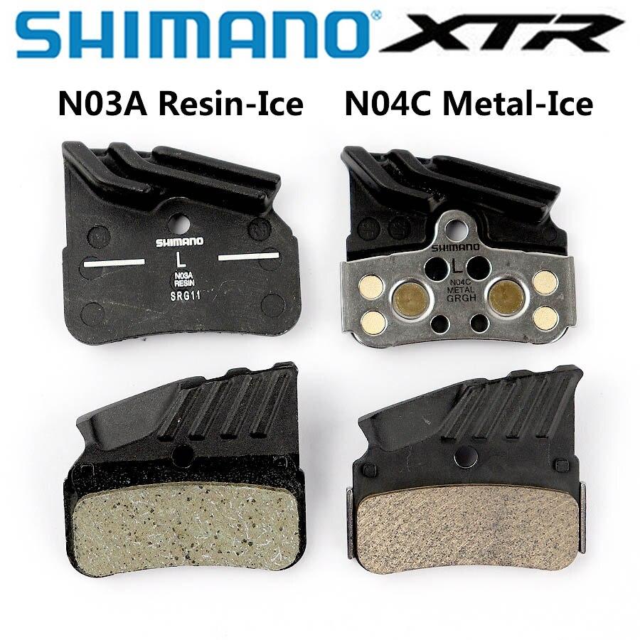 Shimano deore xtr n03a n04c pastilhas de freio a disco n03a resina n04c metal gelo tecnologia refrigeração fin gelo almofada de tecnologia montanha m7120 m8120 m9120