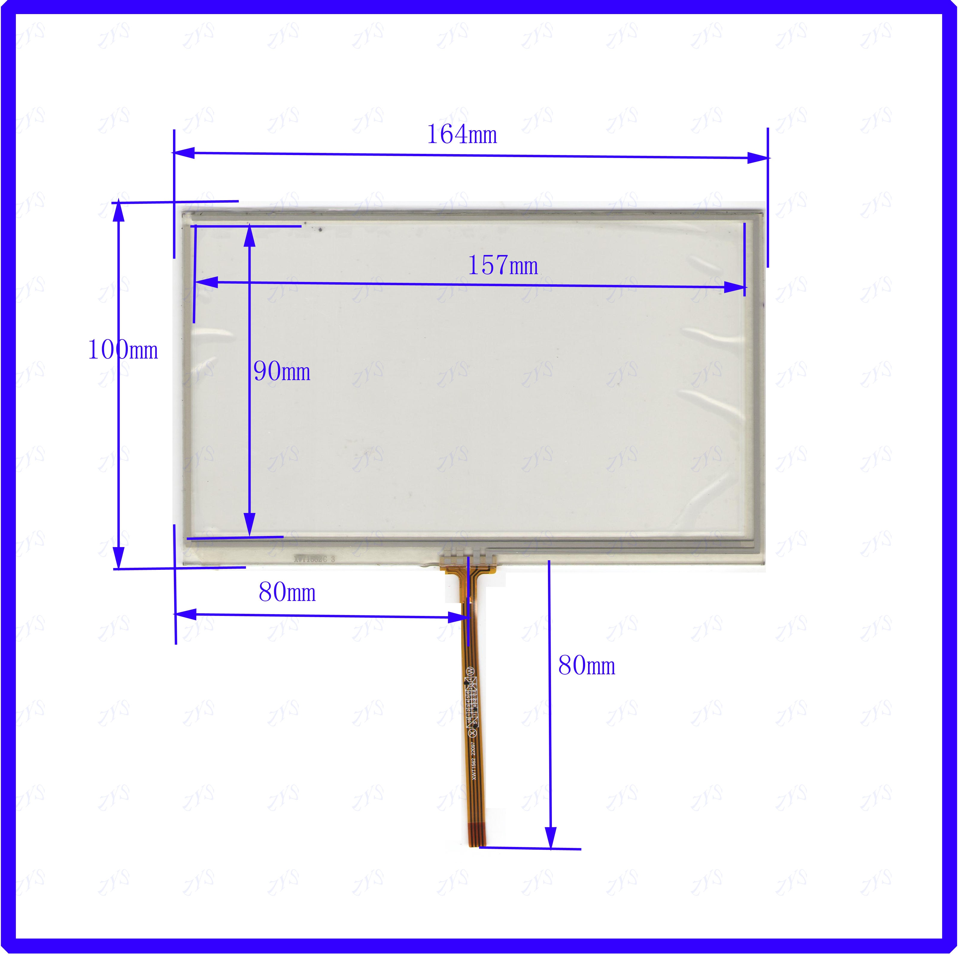 ZhiYuSun XWT1562   4 wire  TOUCH SCREEN   touch panel   this is compatible 164*100mm   164*100