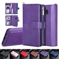 Магнитный чехол для Samsung S20 Ultra, S10, S9, S8 Plus, Note 20, 10, 9, 8, кожаный чехол-бумажник с отделениями для карт для iPhone 11 Pro, XS, Max, XR, 8, 7, чехол