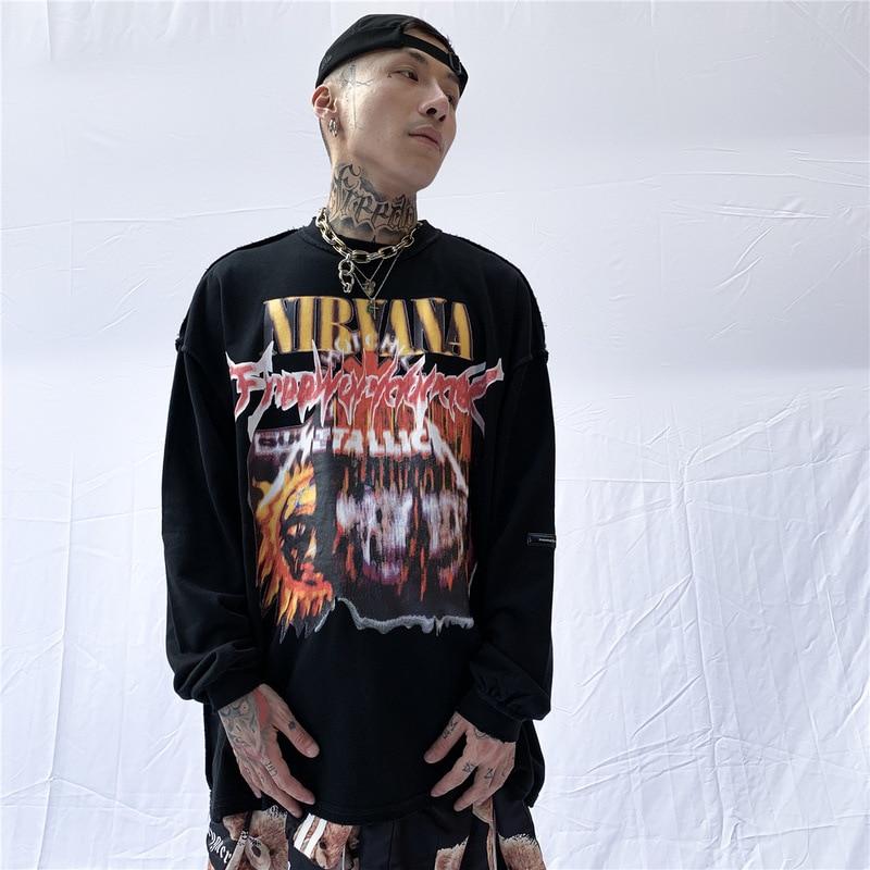 Cooo, hombres Hip Hop Streetwear punk sudadera otoño Kanye west Casual harajuku moleton sudaderas con capucha sudaderas tops ropa