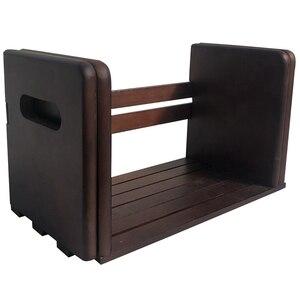 Solid Wood Wooden Bookends Wooden Bookshelf Creative Bookshelf Solid Wood Bookshelf Book Finishing Rack