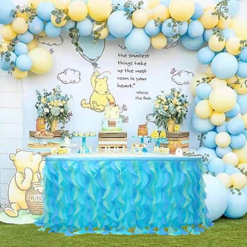 خرقة الخوص الجدول تنورة الزفاف الديكور شبكة الجدول تنورة حفلة عيد ميلاد فندق مأدبة الجدول الديكور الجدول تنورة